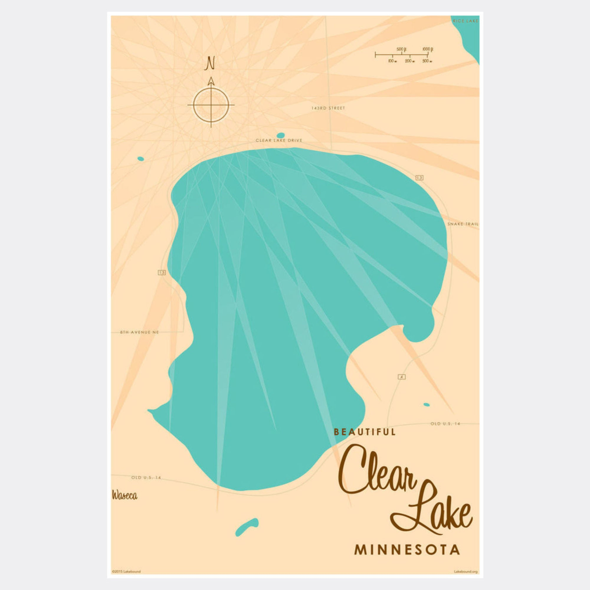 Clear Lake Minnesota, Paper Print