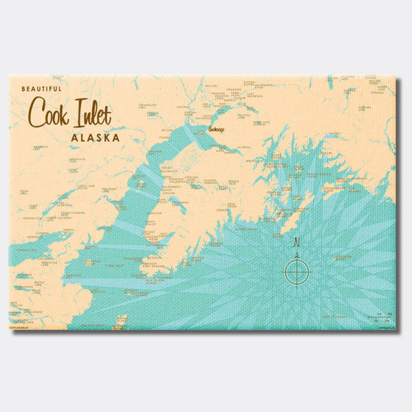 Cook Inlet Alaska, Canvas Print