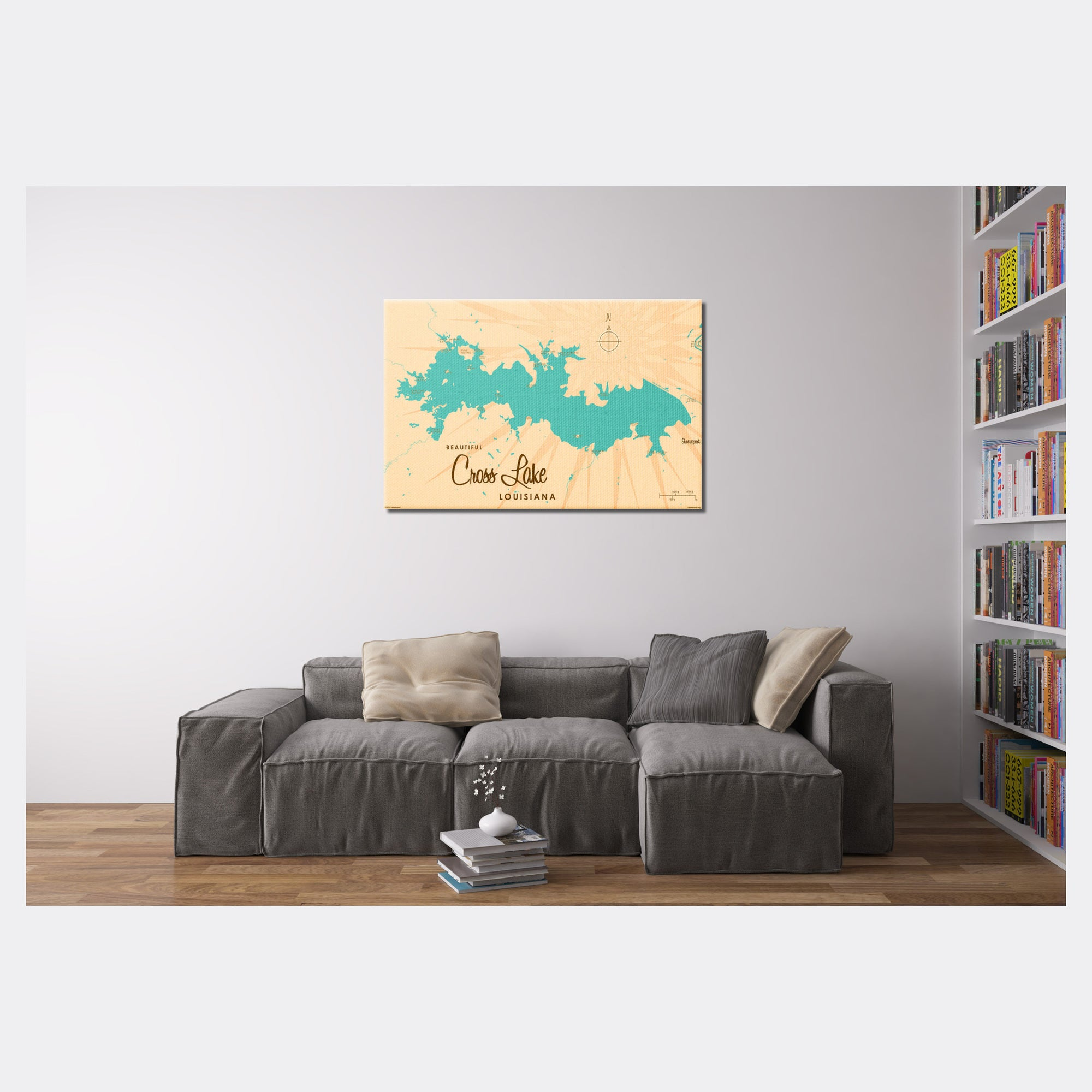 Cross Lake Louisiana, Canvas Print