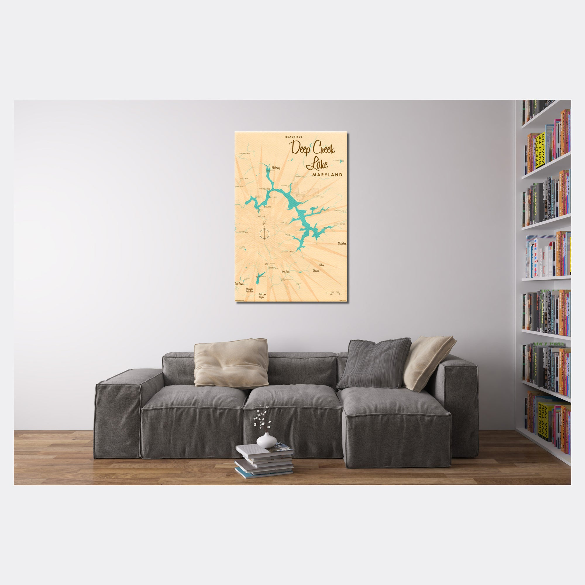 Deep Creek Lake Maryland, Canvas Print