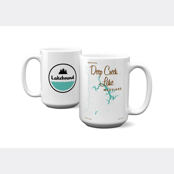 Deep Creek Lake Maryland, 15oz Mug