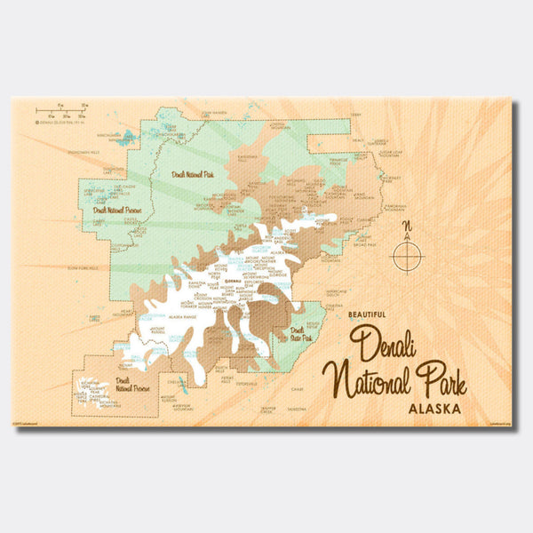 Denali National Park Alaska, Canvas Print