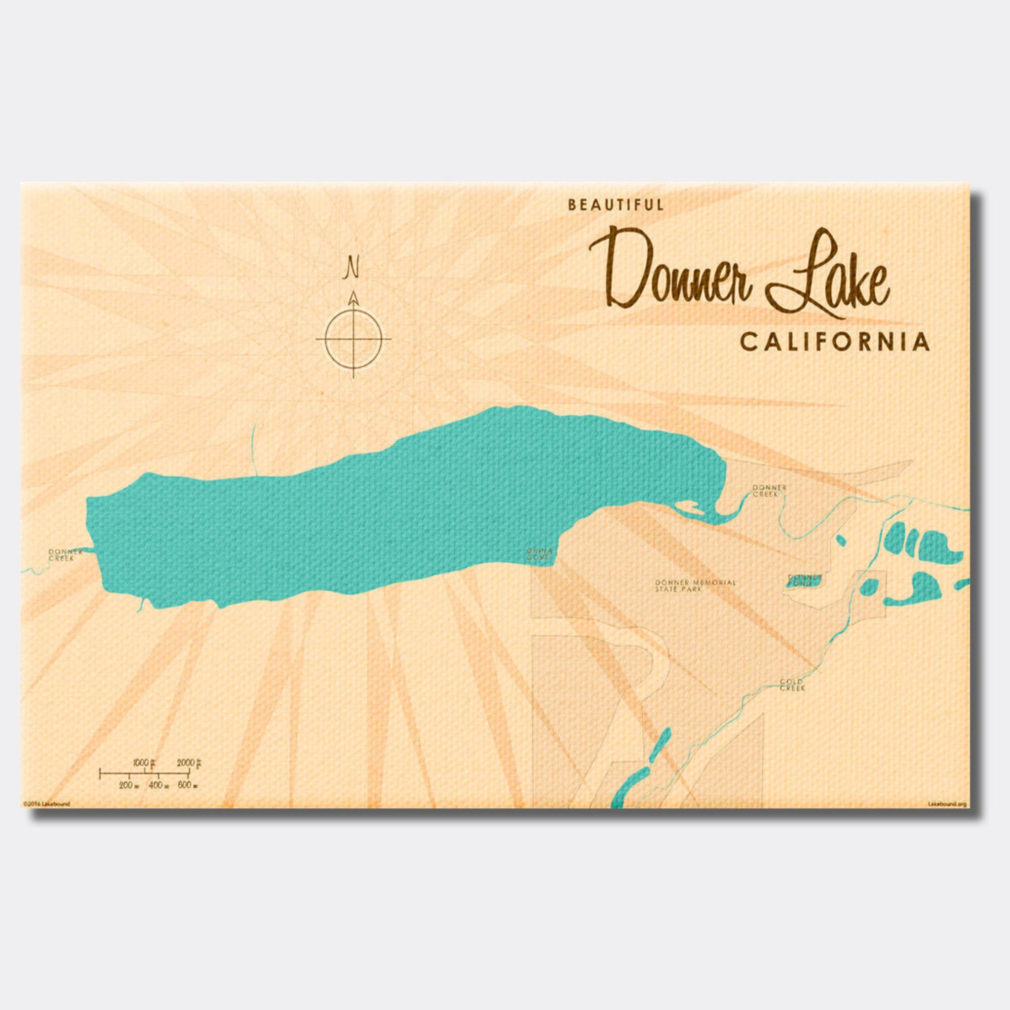 Donner Lake California, Canvas Print