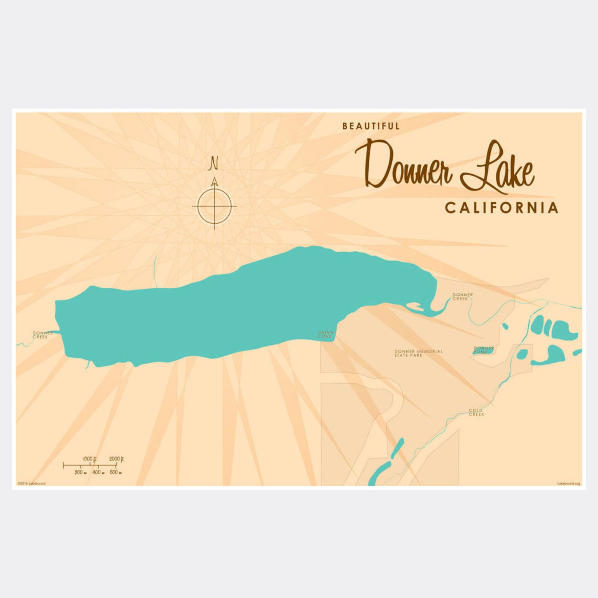 Donner Lake California, Paper Print