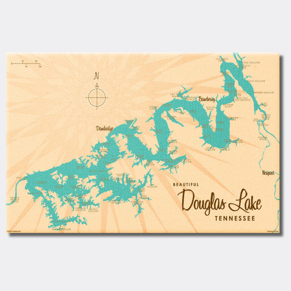 Douglas Lake Tennessee, Canvas Print