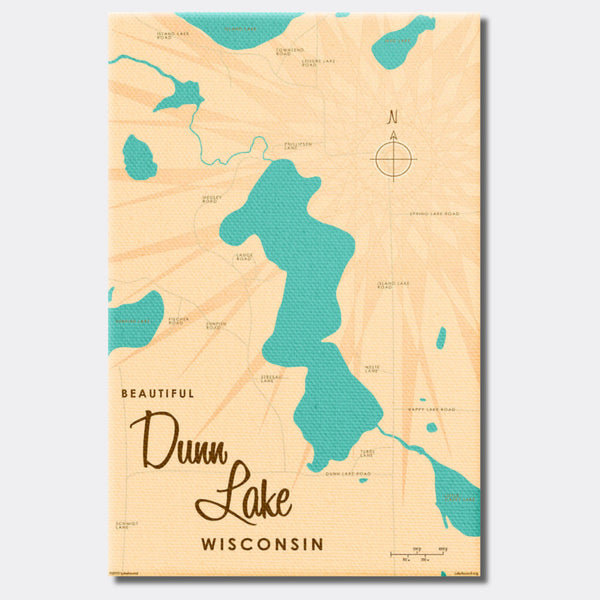 Dunn Lake Wisconsin, Canvas Print