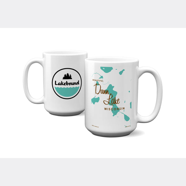 Dunn Lake Wisconsin, 15oz Mug
