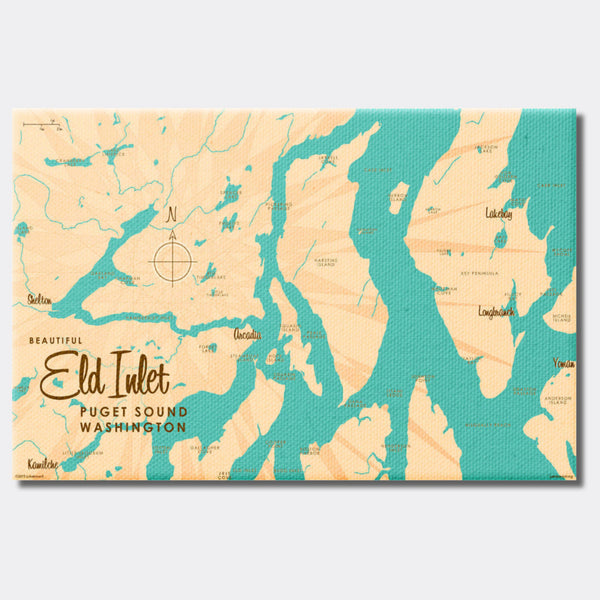 Eld Inlet, Washington, Canvas Print