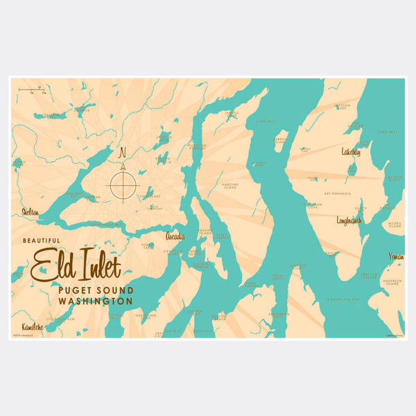 Eld Inlet, Washington, Paper Print