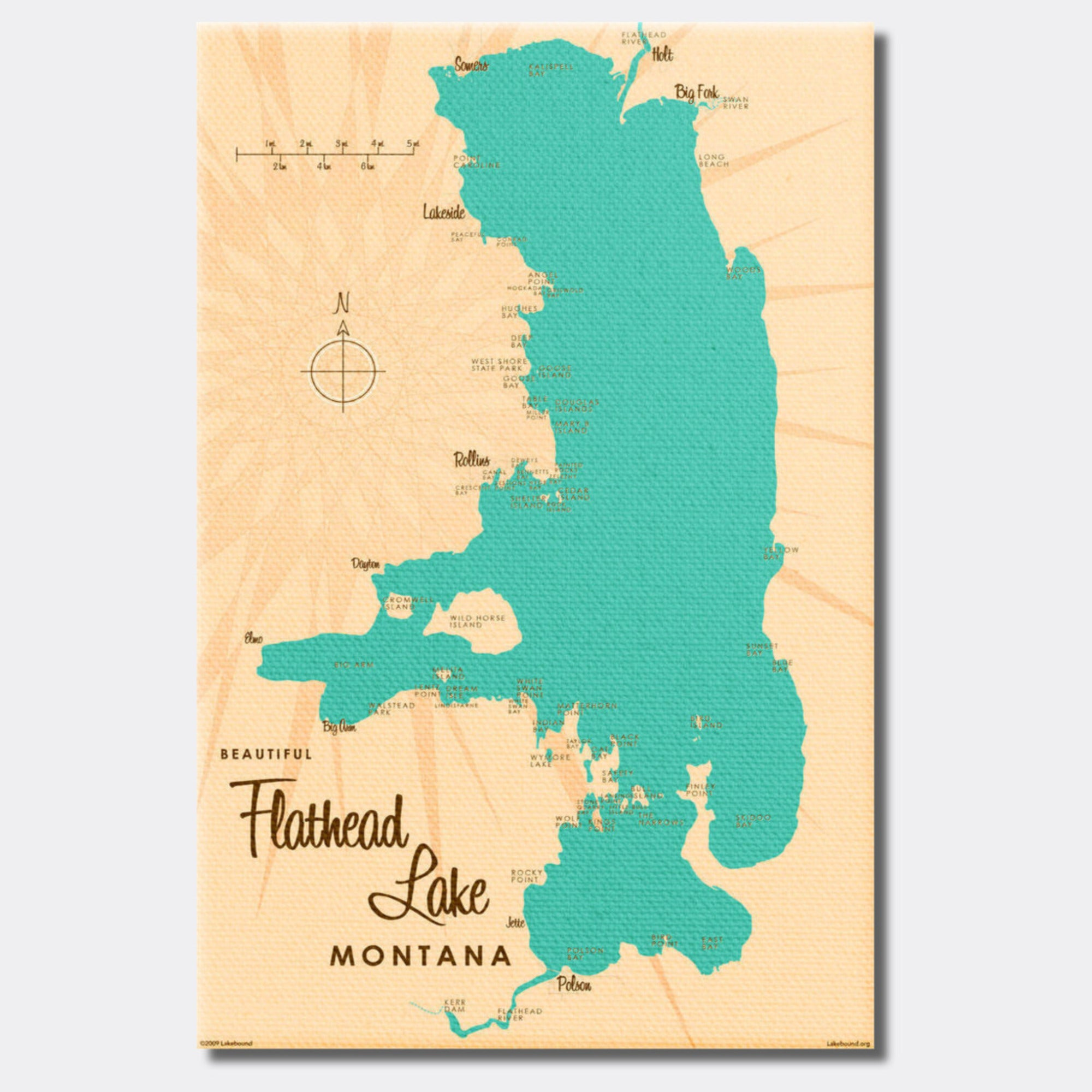 Flathead Lake Montana, Canvas Print