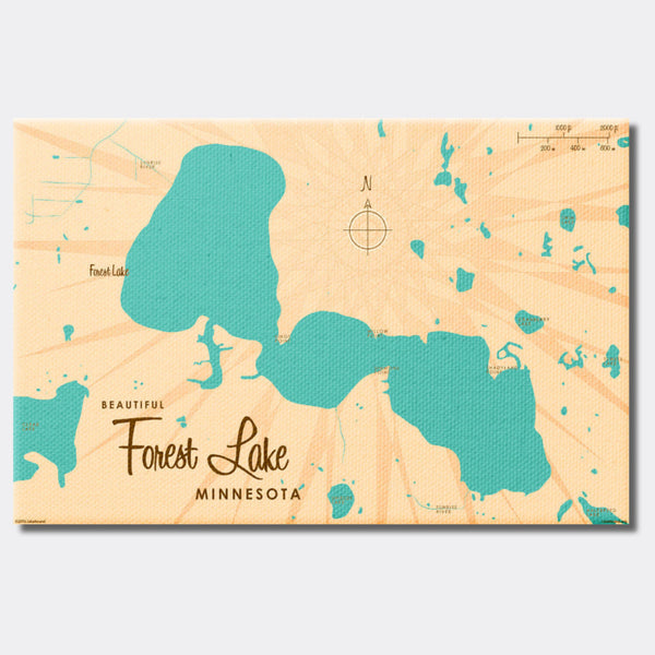 Forest Lake Minnesota, Canvas Print