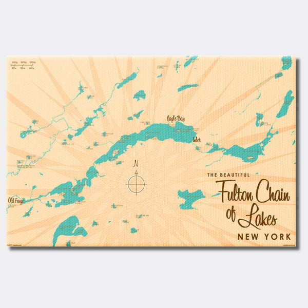 Fulton Chain Lakes New York, Canvas Print