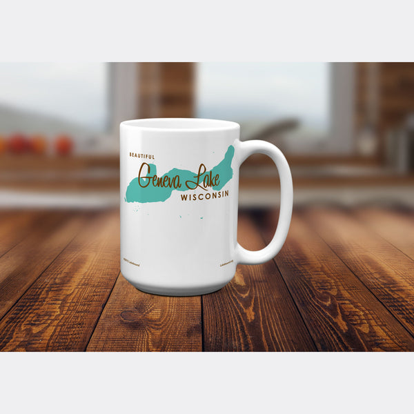 Geneva Lake Wisconsin, 15oz Mug