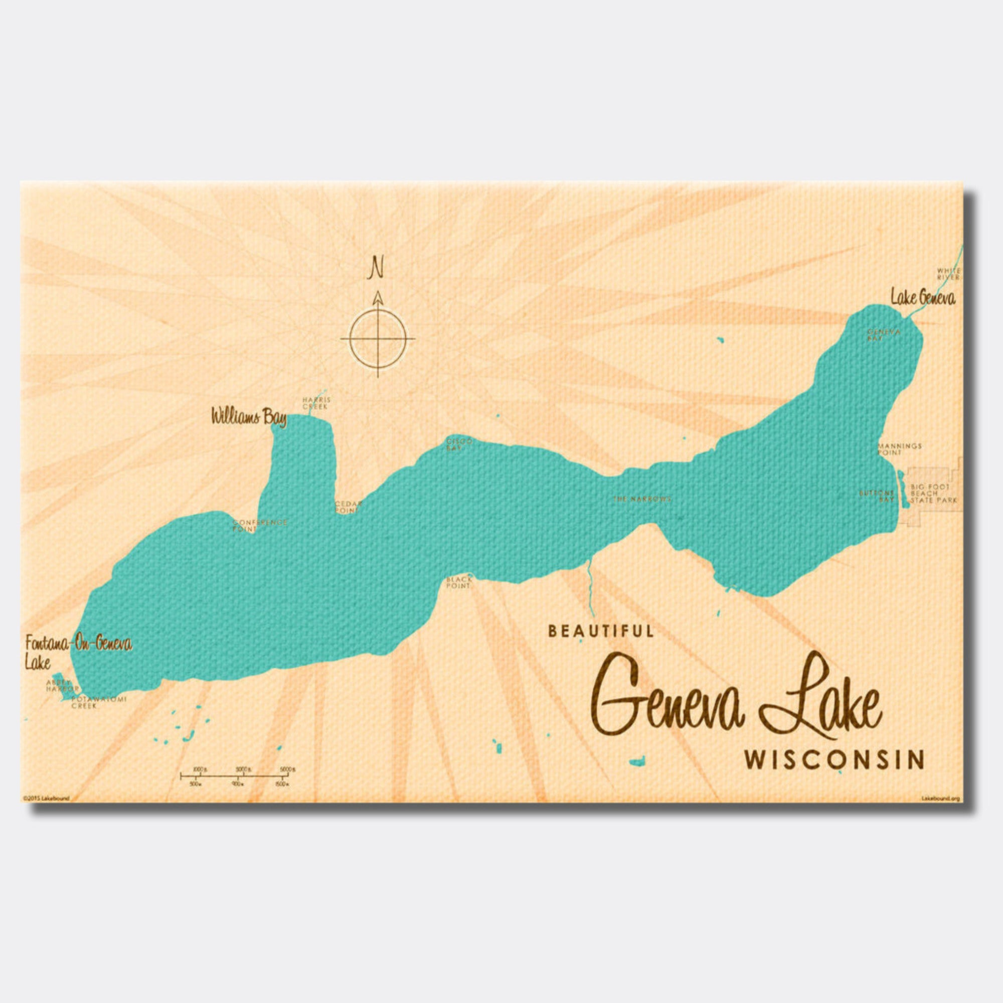 Geneva Lake Wisconsin, Canvas Print