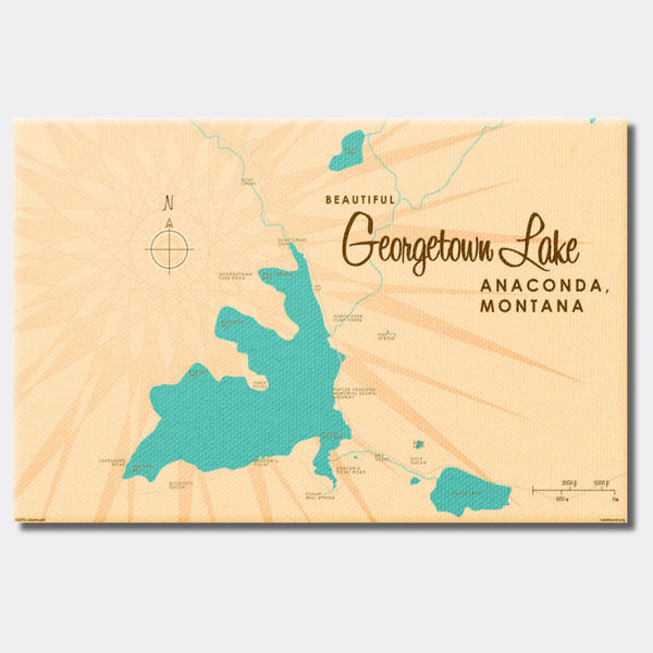 Georgetown Lake Montana, Canvas Print