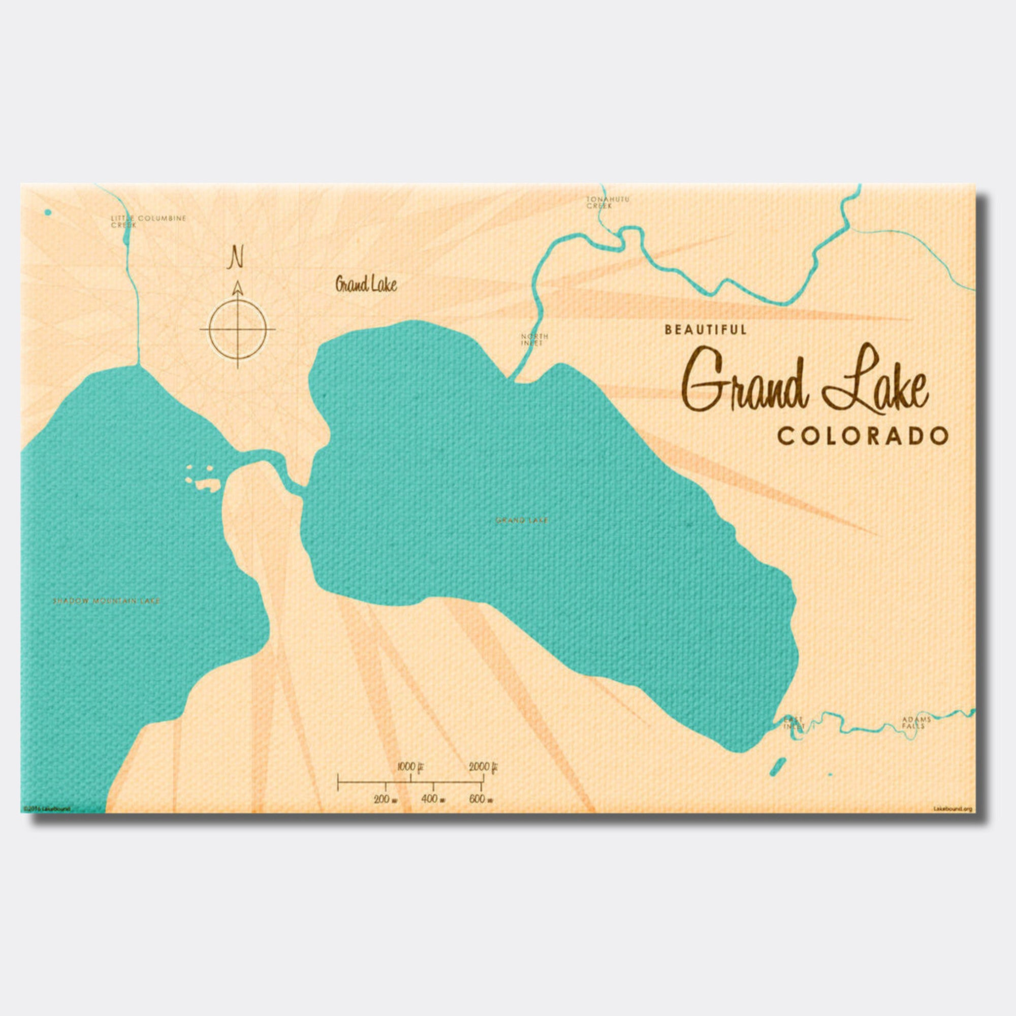 Grand Lake Colorado, Canvas Print