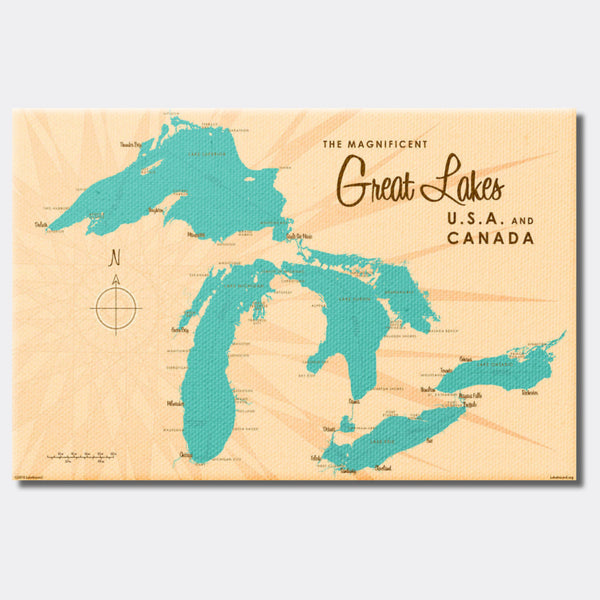 Great Lakes, Canvas Print