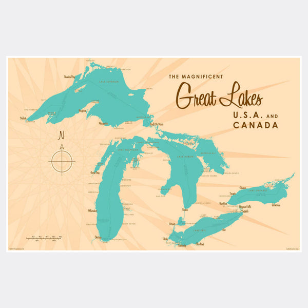 Great Lakes, Paper Print