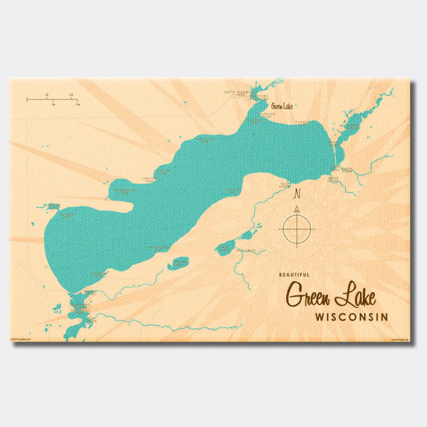 Green Lake Wisconsin, Canvas Print