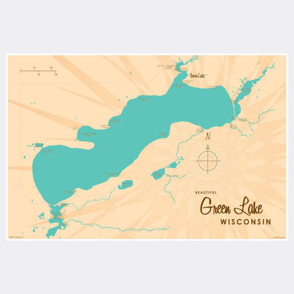 Green Lake Wisconsin, Paper Print