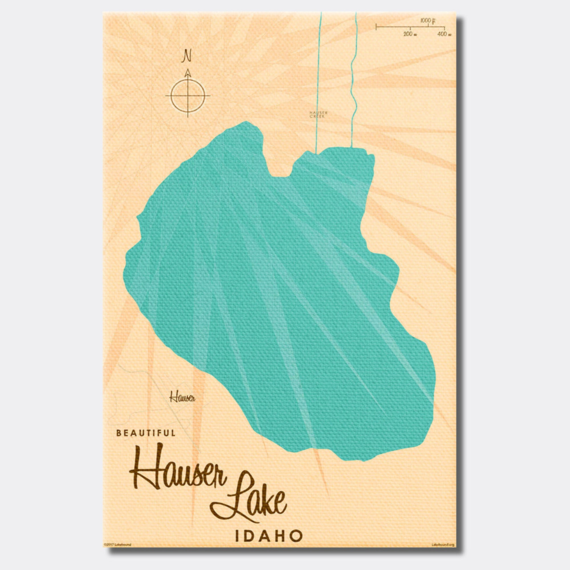 Hauser Lake Idaho, Canvas Print