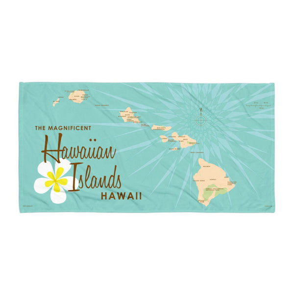 Hawaiian Islands Beach Towel