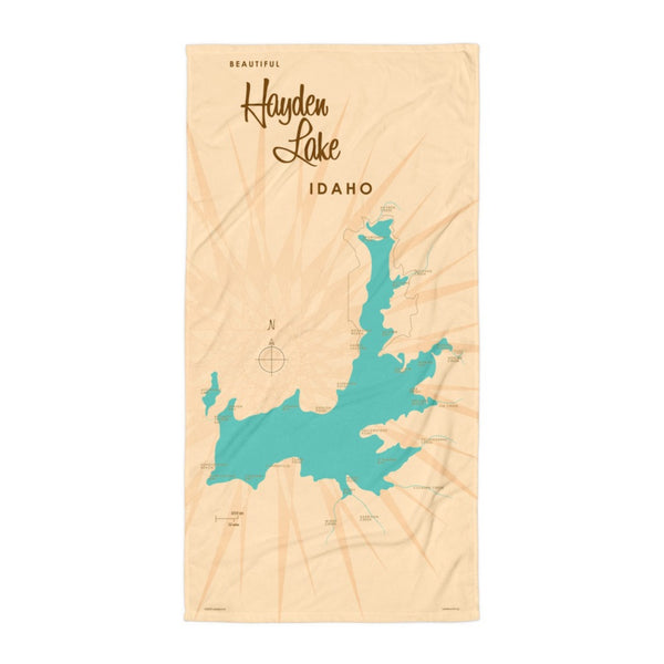 Hayden Lake Idaho Beach Towel