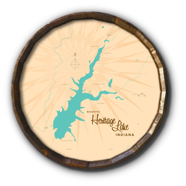 Heritage Lake Indiana, Barrel End Map Art