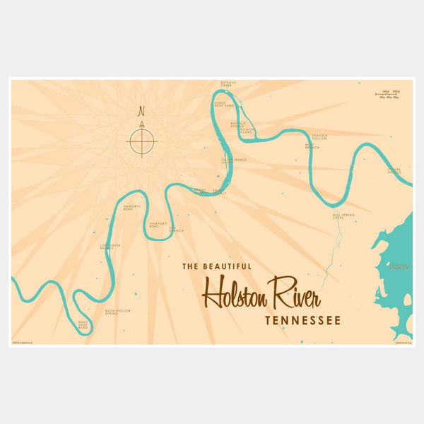 Holston River Tennessee, Paper Print