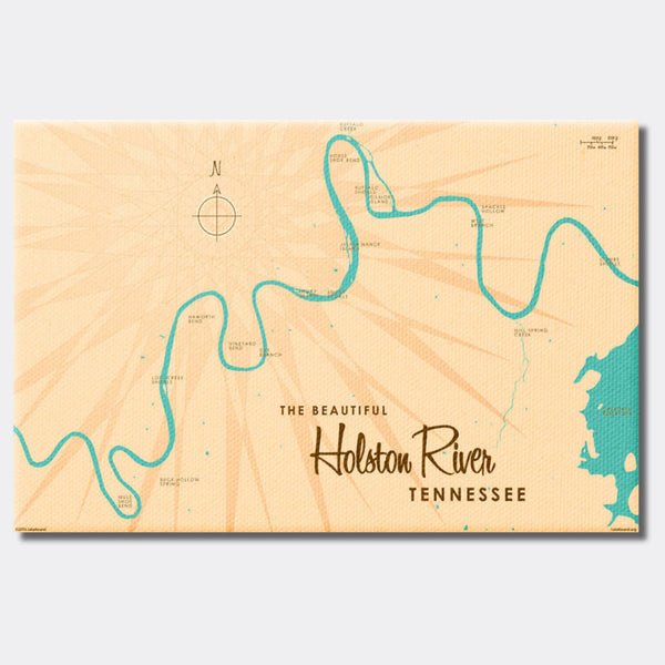 Holston River Tennessee, Canvas Print