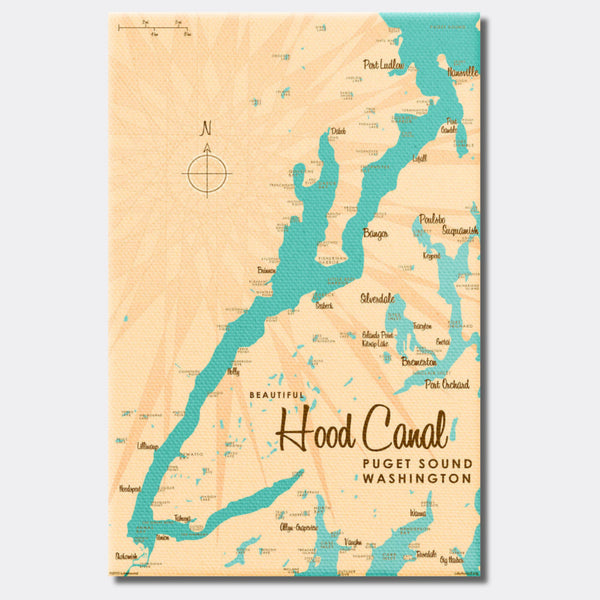 Hood Canal Washington, Canvas Print