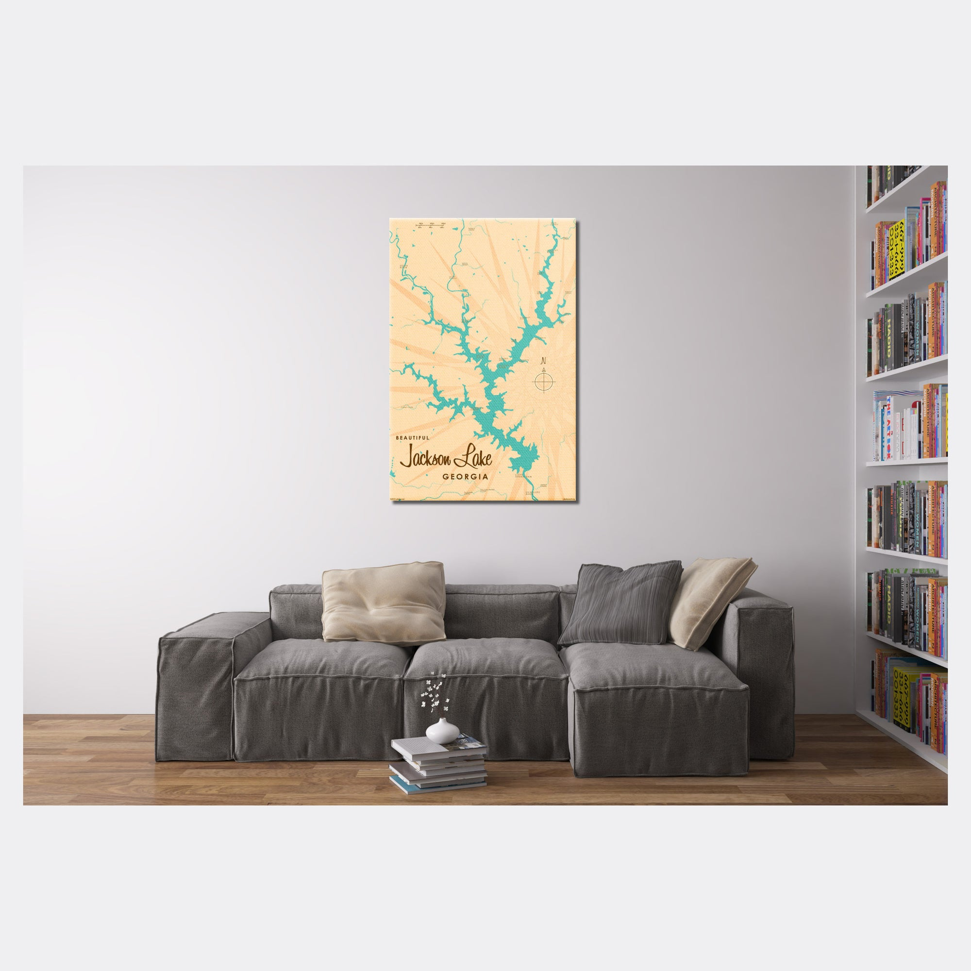 Jackson Lake Georgia, Canvas Print