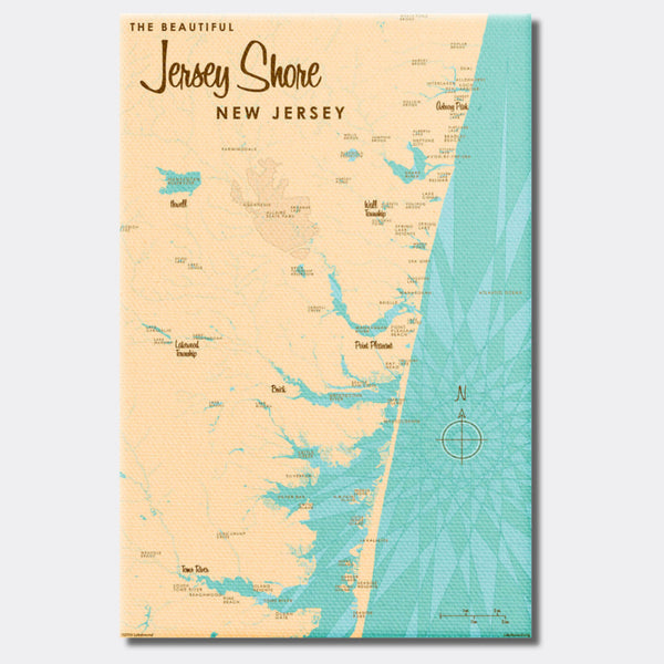 Jersey Shore New Jersey, Canvas Print