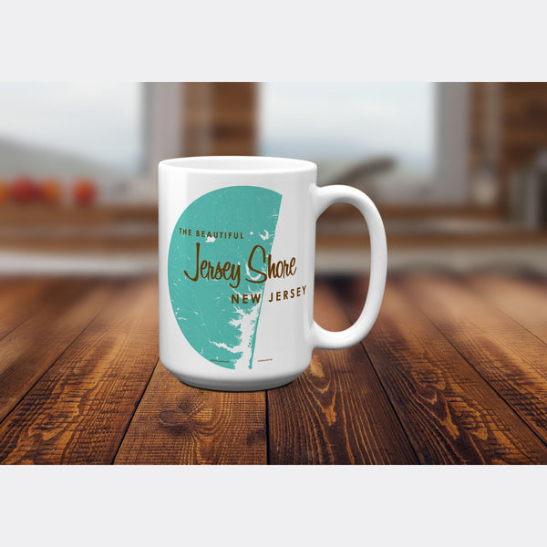 Jersey Shore New Jersey, 15oz Mug