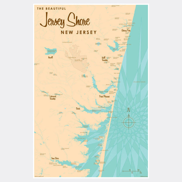 Jersey Shore New Jersey, Paper Print