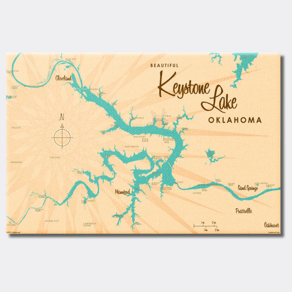 Keystone Lake Oklahoma, Canvas Print