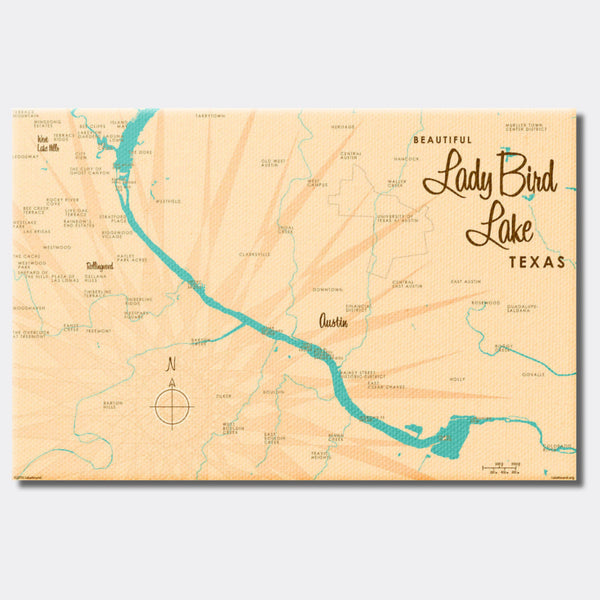 Lady Bird Lake Texas, Canvas Print