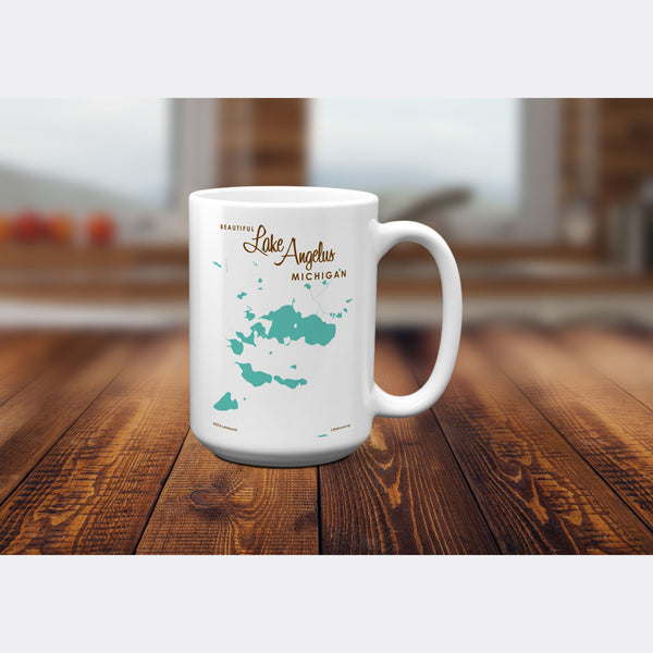 Lake Angelus Michigan, 15oz Mug
