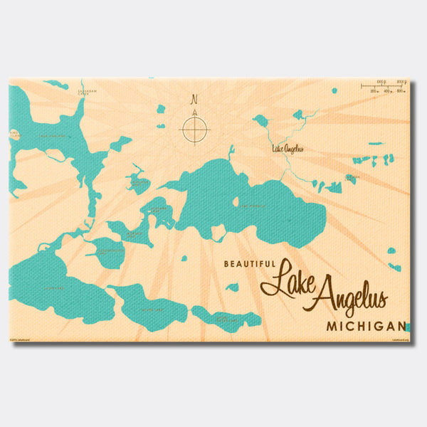Lake Angelus Michigan, Canvas Print