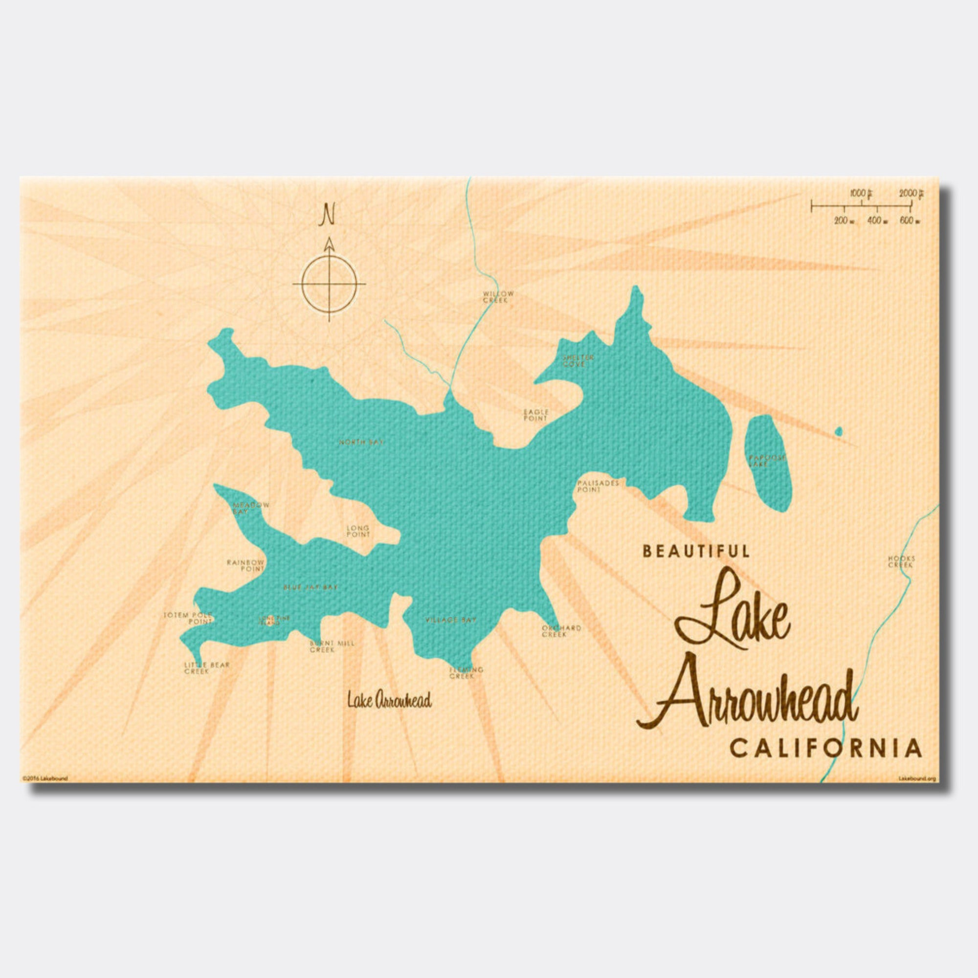 Lake Arrowhead California, Canvas Print