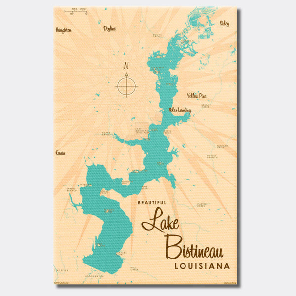Lake Bistineau Louisiana, Canvas Print
