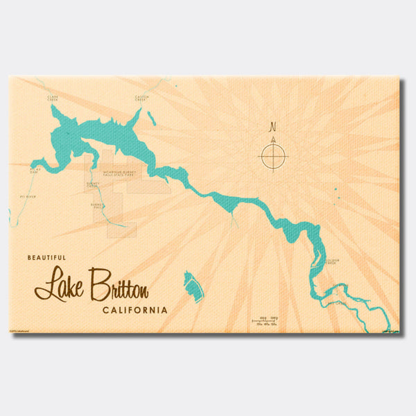 Lake Britton California, Canvas Print