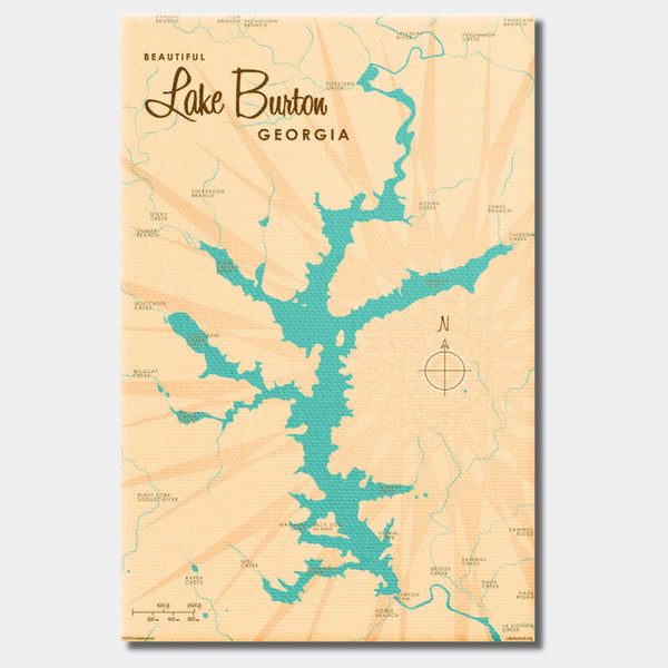 Lake Burton Georgia, Canvas Print