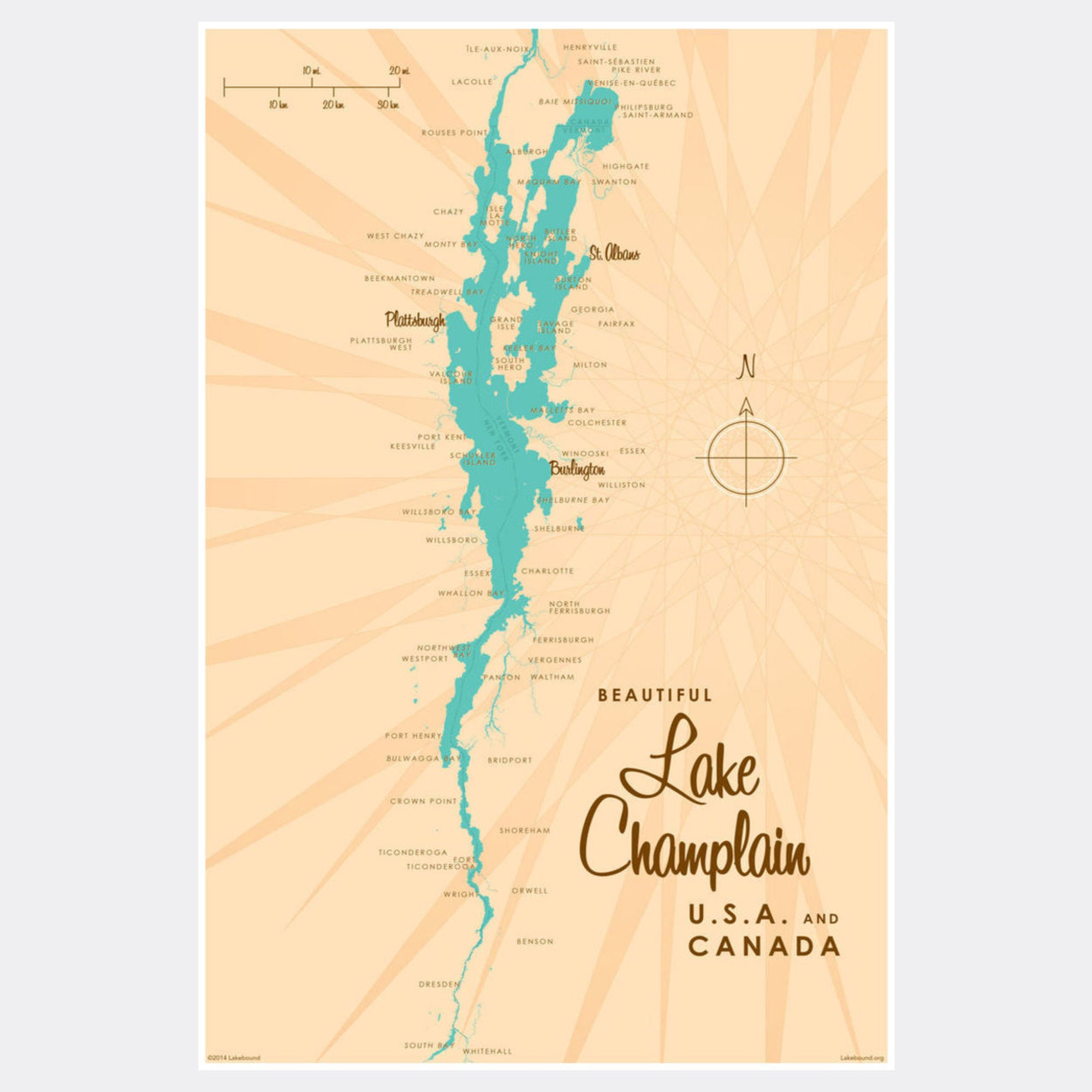 Lake Champlain New York, Paper Print