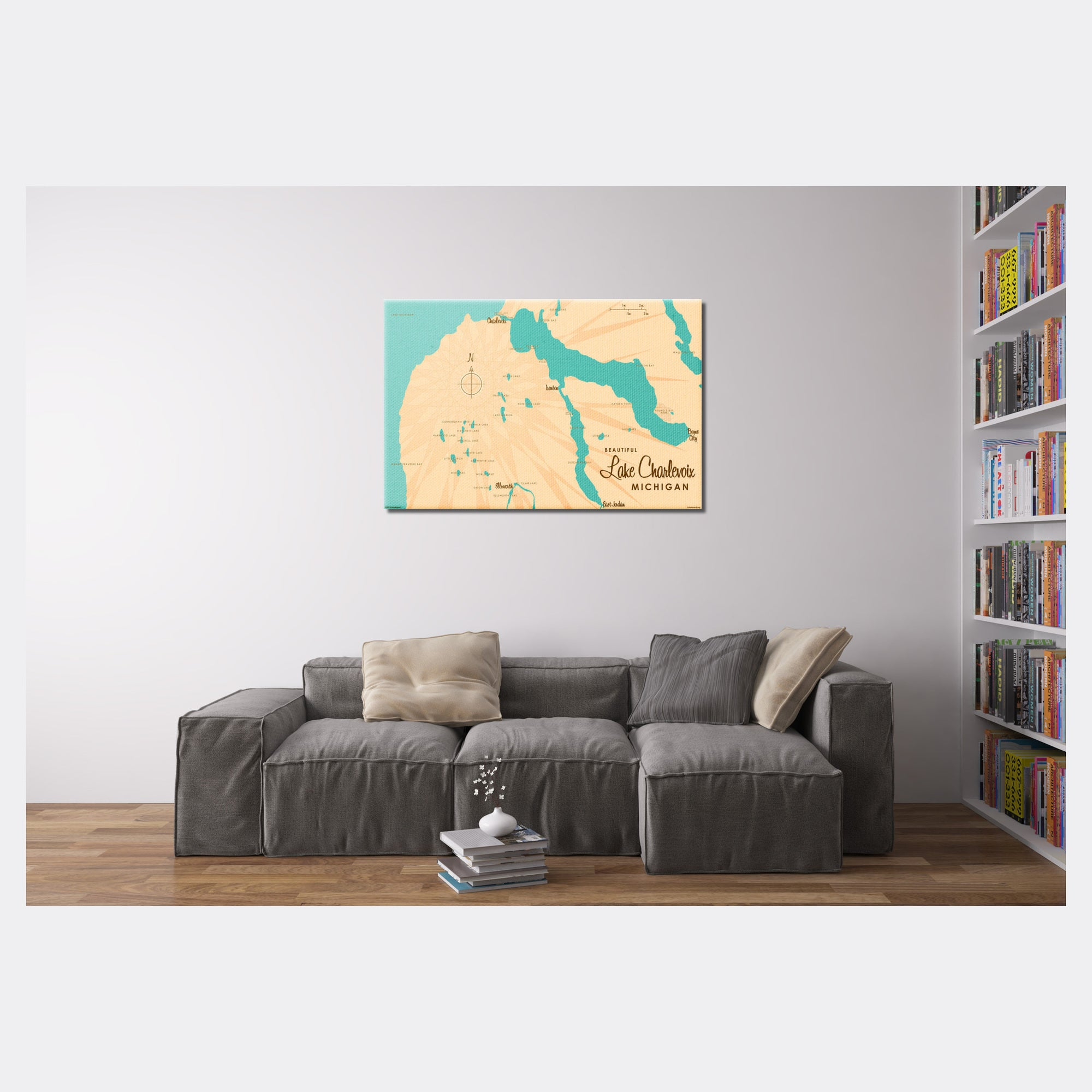 Lake Charlevoix, Canvas Print