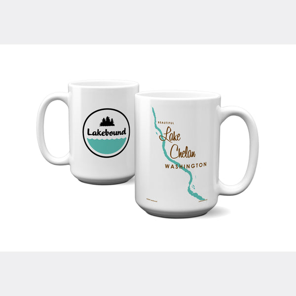 Lake Chelan Washington, 15oz Mug
