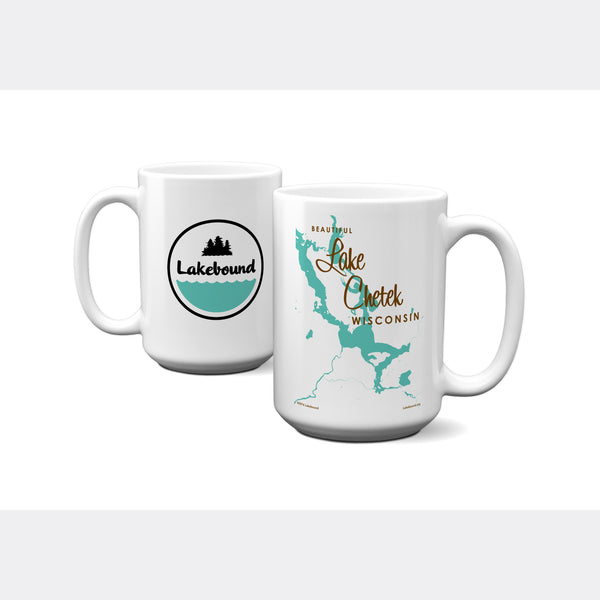 Lake Chetek Wisconsin, 15oz Mug