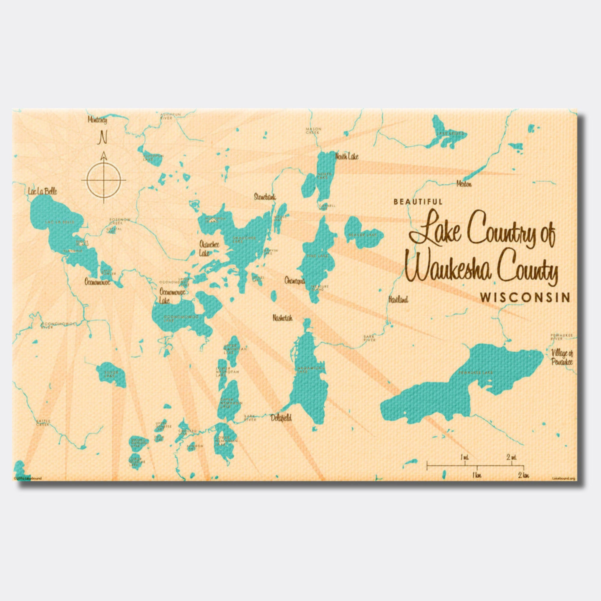 Lake Country Waukesha County Wisconsin, Canvas Print