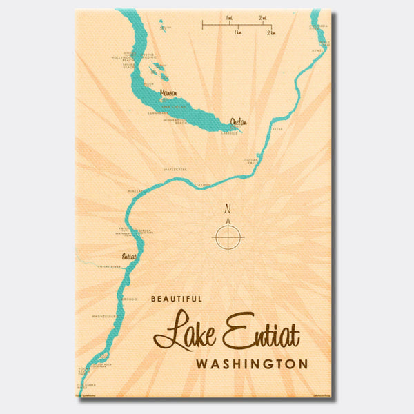 Lake Entiat Washington, Canvas Print