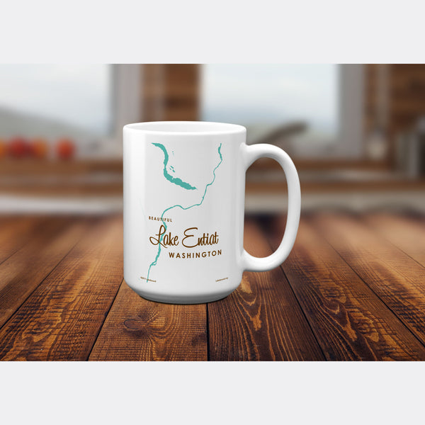 Lake Entiat Washington, 15oz Mug